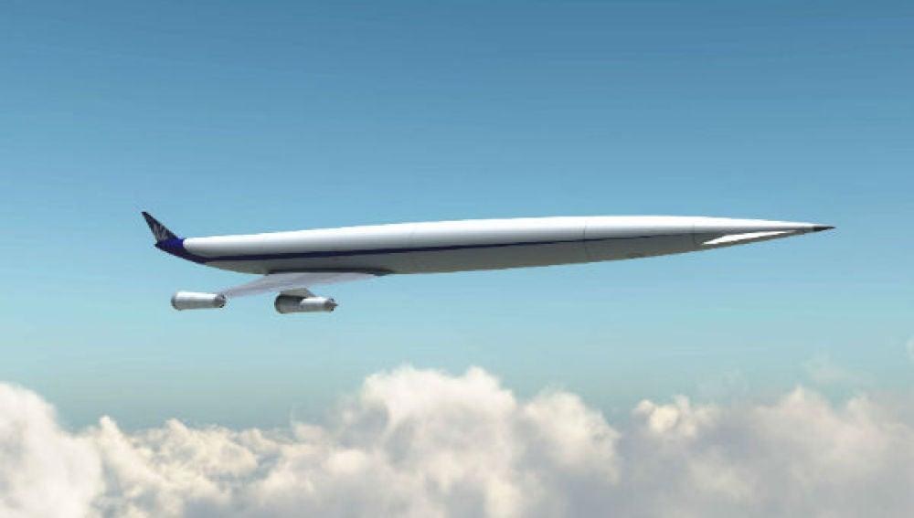 Simulación de un avión hipersónico.