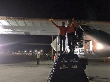 Llegada del avión Solar Impulse II en Ohio