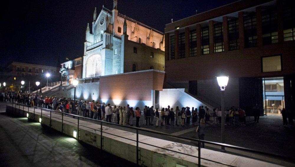 Colas a la entrada del museo del Prado