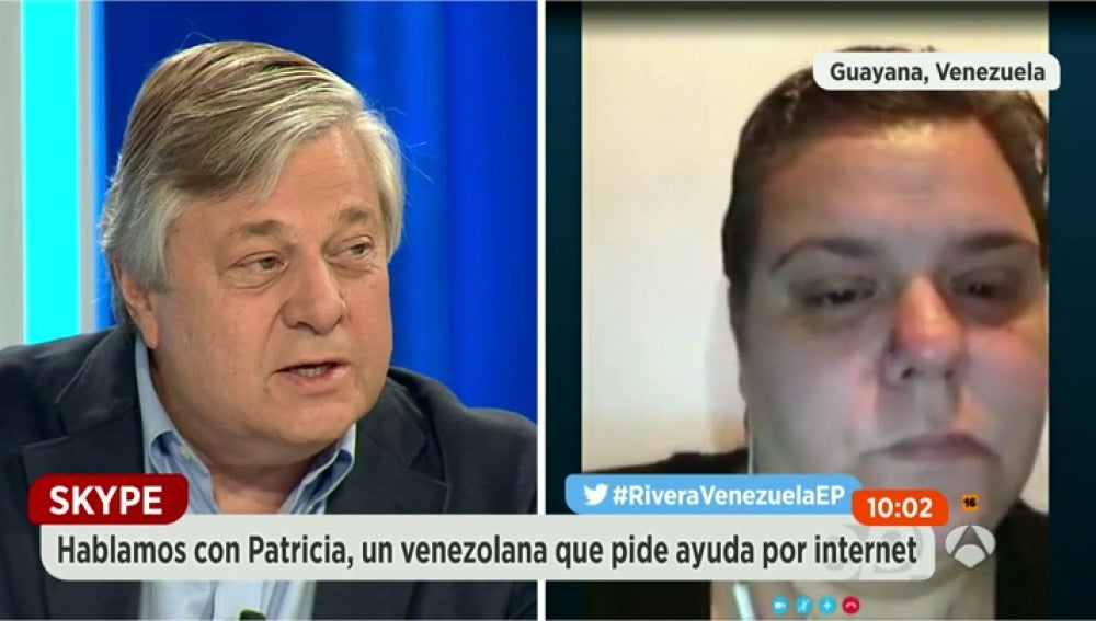Frame 425.676725 de: Patricia denuncia la dramática situación de Venezuela