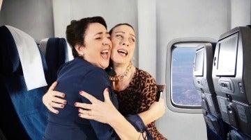 Piedad y Merche, pánico en el avión