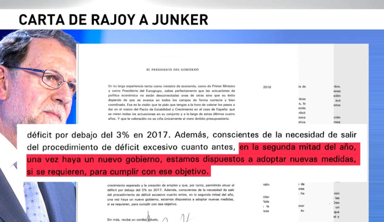 Frame 9.135176 de: Rajoy se compromete por escrito ante la UE a acometer nuevos recortes en la segunda mitad del año