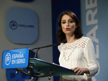 Andrea Levy, en rueda de prensa