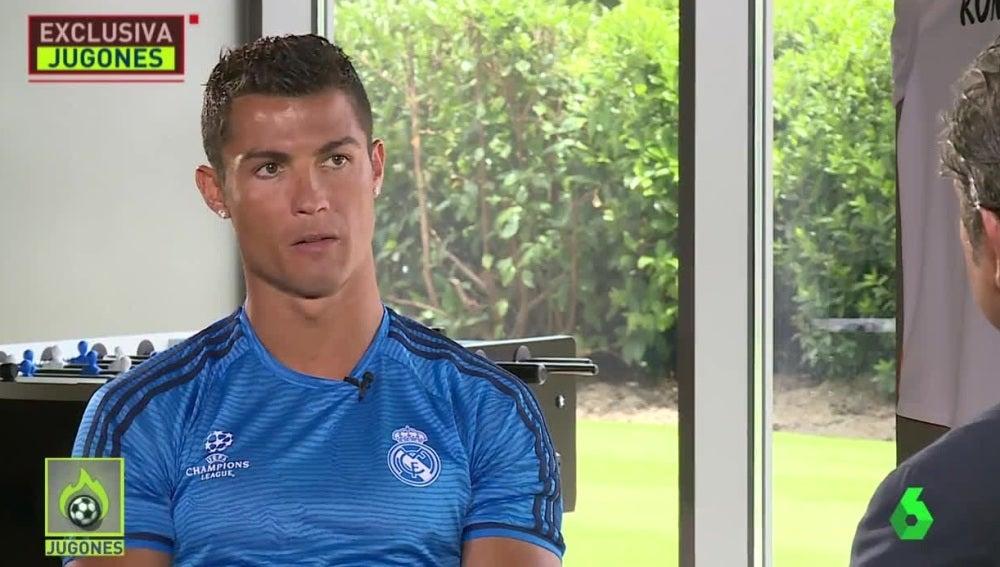 Cristiano Ronaldo, en 'Jugones' con Josep Pedrerol