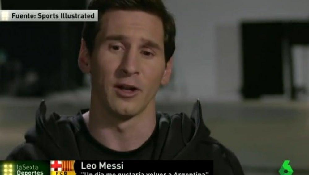Leo Messi se sincera en 'Sports Illustrated'