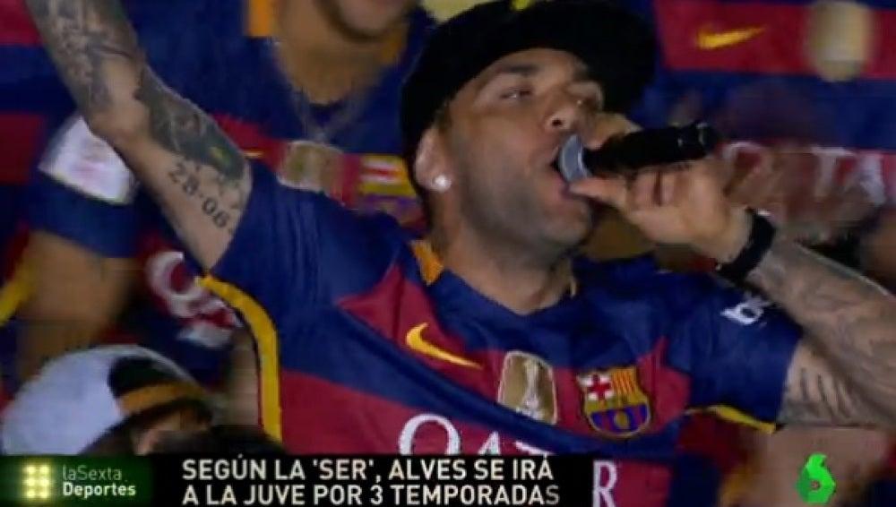 Dani Alves, lateral del FC Barcelona
