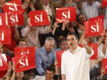 Pedro Sánchez, en un acto en Valencia