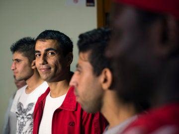 Primeros refugiados en llegar a España