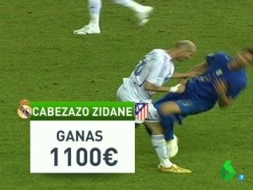 ¿A cuánto se paga un cabezazo de Zidane a Simeone?