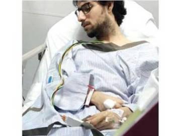 El doctor Muhannad Al Zabn, ingresado tras el disparo.