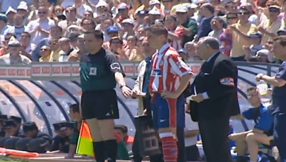 Fernando Torres, en su debut con el Atlético de Madrid