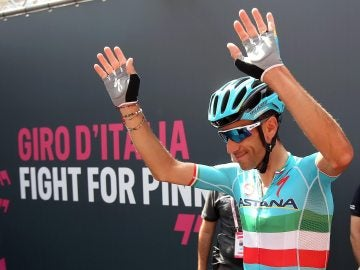 Nibali, durante una etapa del Giro