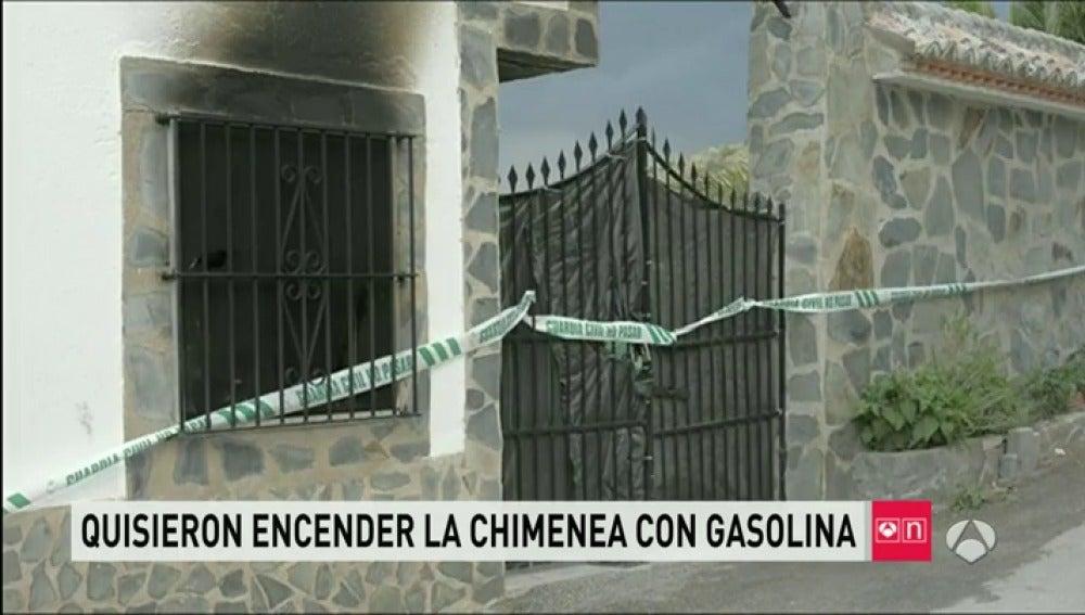Vivienda incendiada en Jaén