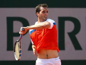 Albert Ramos, en acción en Roland Garros