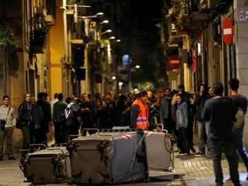 Disturbios en el barrio de Gracia