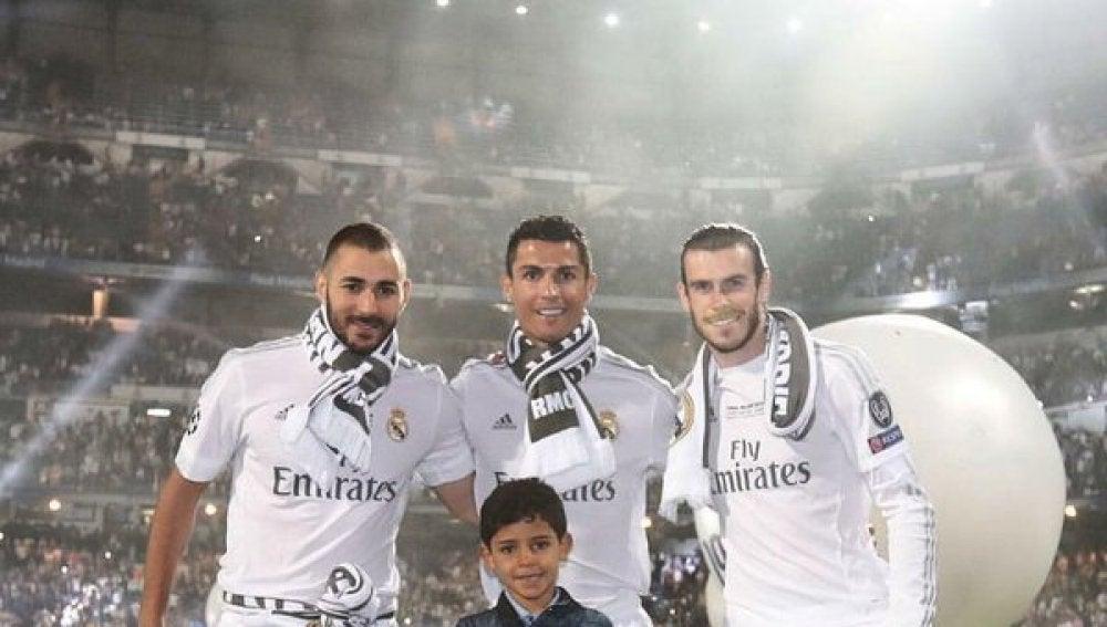 La BBCC: Benzema, Bale, Cristiano padre y Cristiano hijo