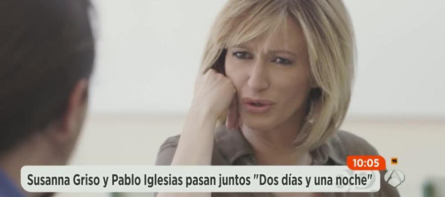 Antena 3 tv susanna griso 39 desnuda 39 a pablo iglesias for Antena 3 espejo publico hoy