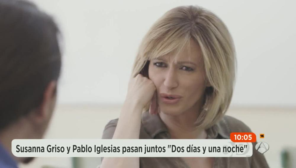 Susanna Griso 'desnuda' a Pablo Iglesias