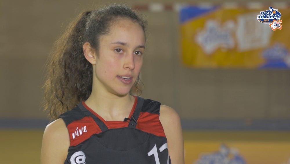 Carolina Hernando, jugadora de Copa Colegial