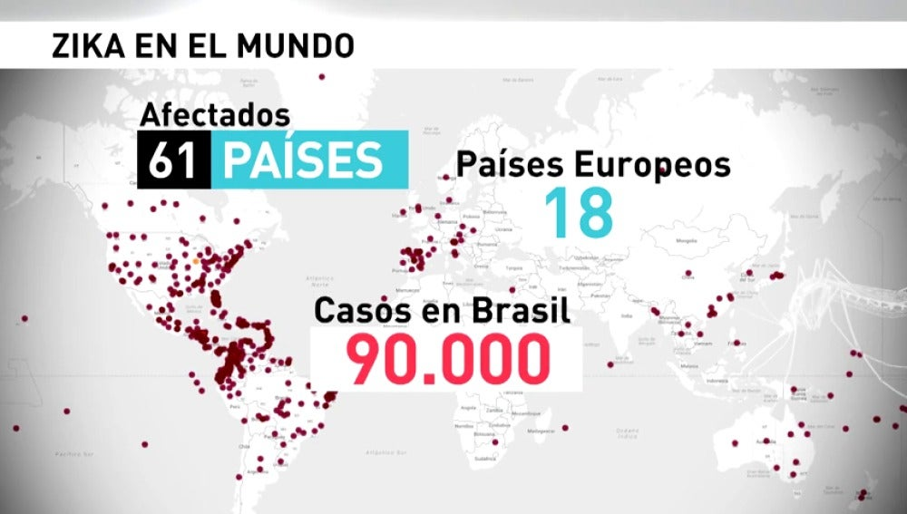 Frame 10.893672 de: Más de 61 países afectados por el zika