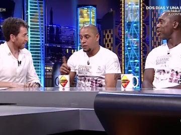 Roberto Carlos y Clarence Seedorf, en 'El Hormiguero'