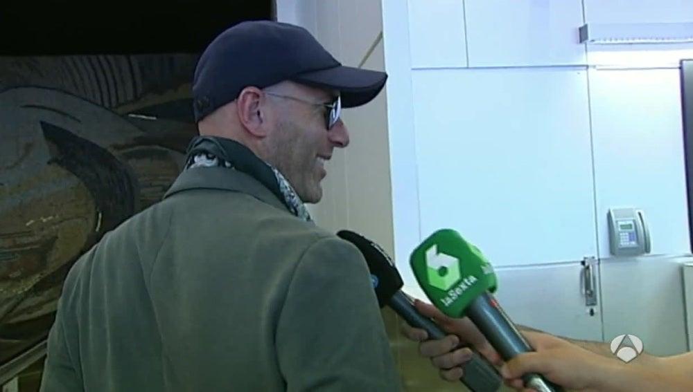 Zinedine Zidane, en el aeropuerto