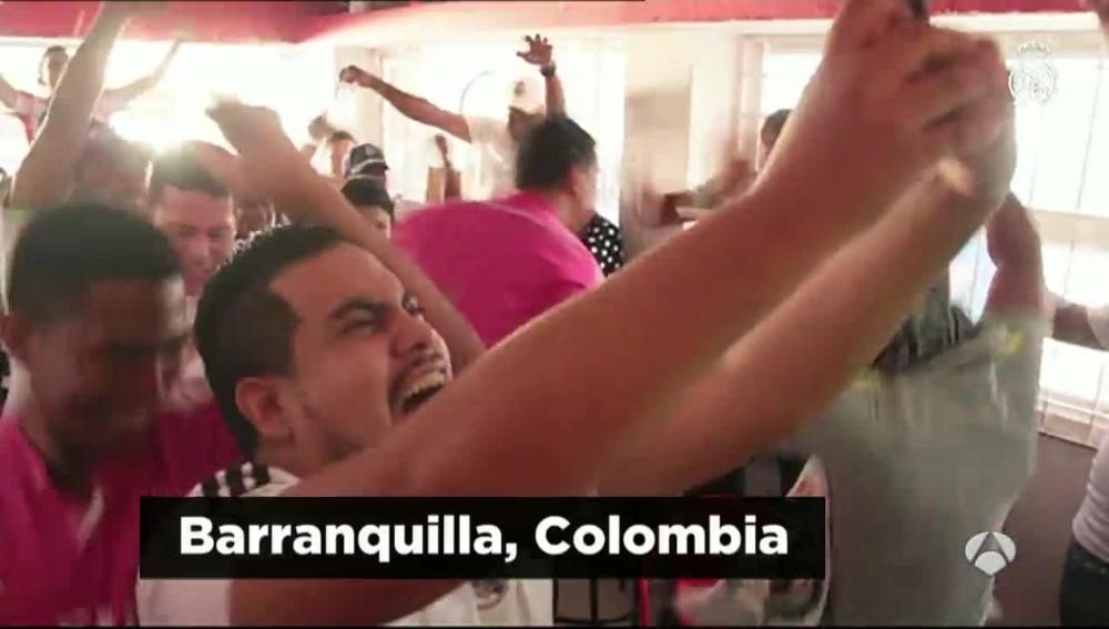 Los madridistas de Barranquilla celebran la Undécima