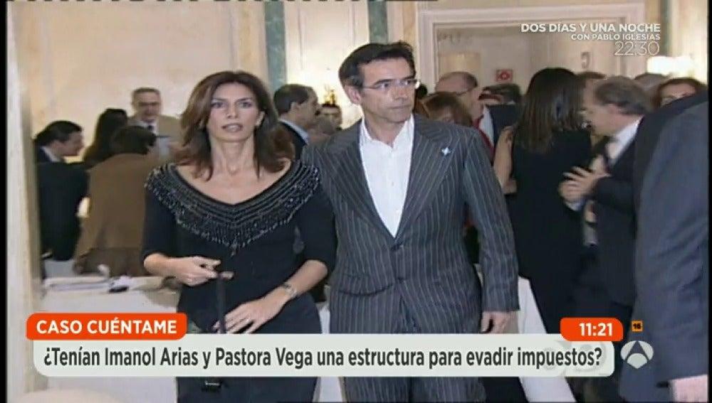Imanol Arias y Pastora Vega