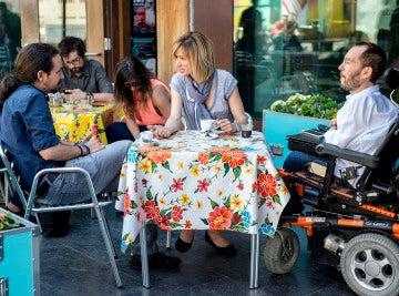 Pablo Iglesias, Susanna Griso y Pablo Echenique en 'Dos días y una noche'