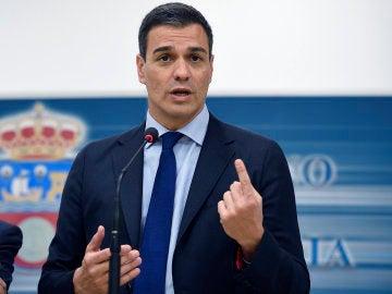 El Secretario General del PSOE, Pedro Sánchez, en Santander