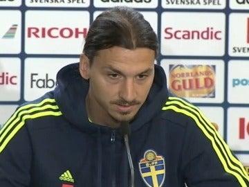 Zlatan Ibrahimovic, durante una rueda de prensa