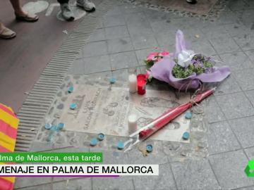 Flores en honor a Luis Salom