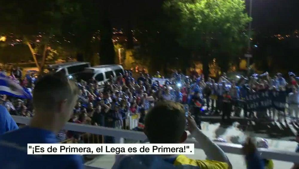 Fiesta en Leganés por el ascenso a Primera