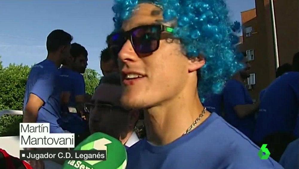 Mantovani celebrando el ascenso en Leganés
