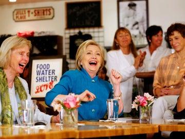 La precandidata demócrata Hillary Clinton