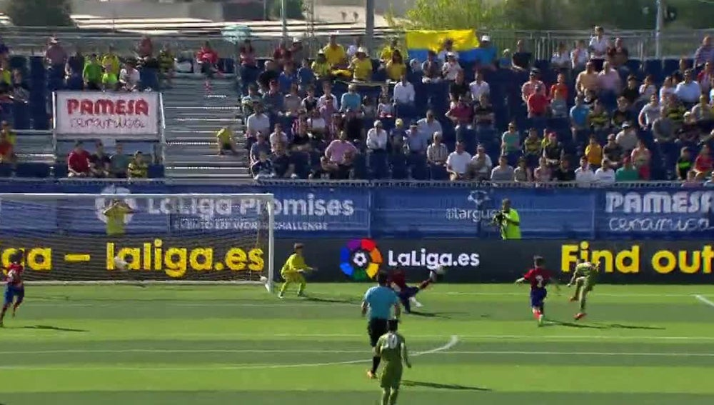 Prendes anota un golazo ante el Atlético