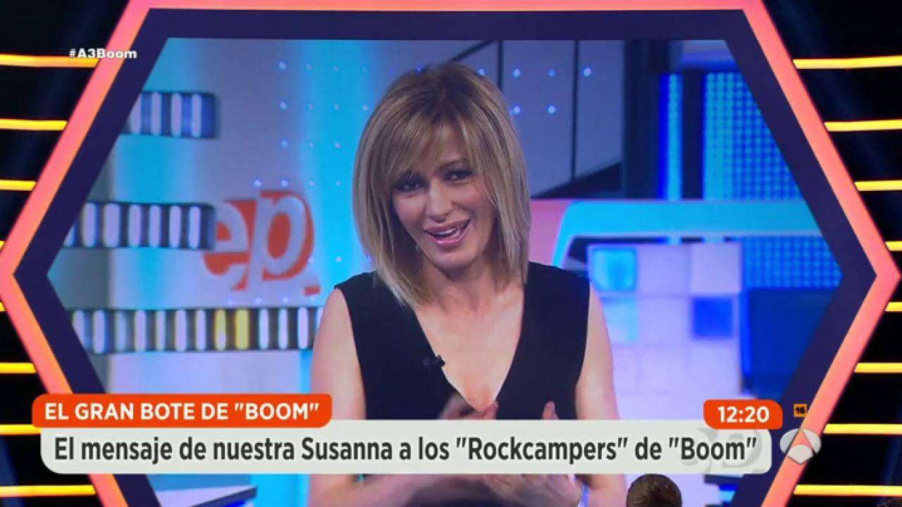 Susanna griso env a un mensaje a los rockcampers de boom for Espejo publico hoy completo