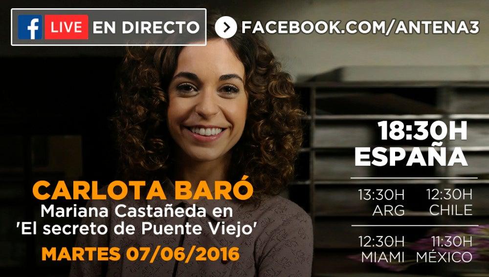 Carlota Baró en 'El Secreto de Puente Viejo'