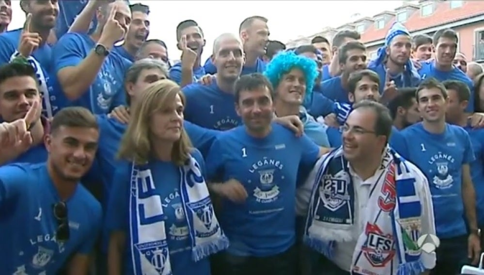 Festejo del Leganés al ascender a Primera División