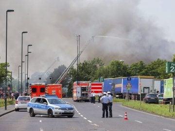 Incendio en el centro de refugiados de Düsseldorf