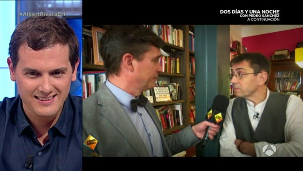 """Frame 152.328106 de: Juan Carlos Monedero: """"Pablo Iglesias tiene más estudios que Albert Rivera"""""""