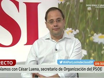 César Luena en Espejo Público