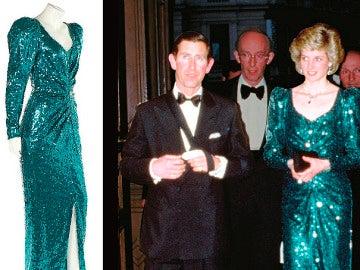 El vestido subastado que lució Diana de Gales