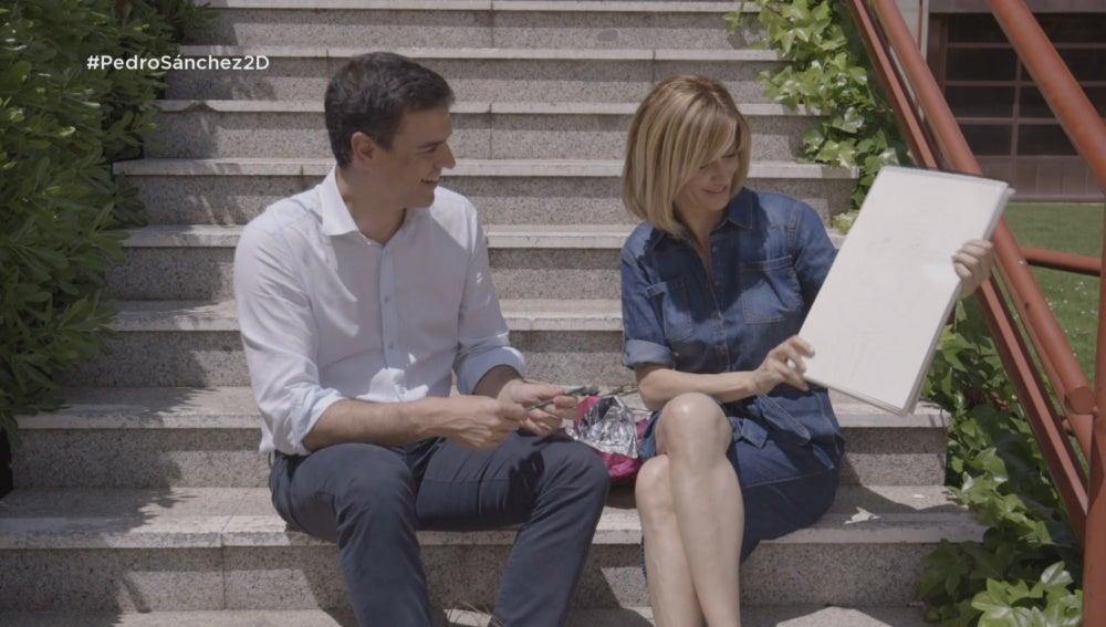 Pedro Sánchez y Susanna Griso en 'Dos días y una noche'