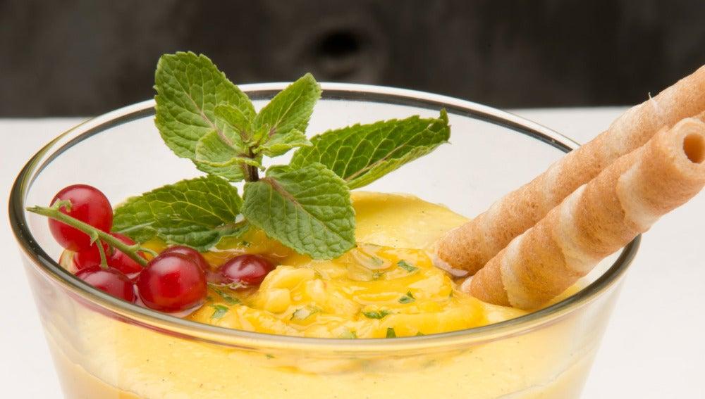 Crema fría de mango