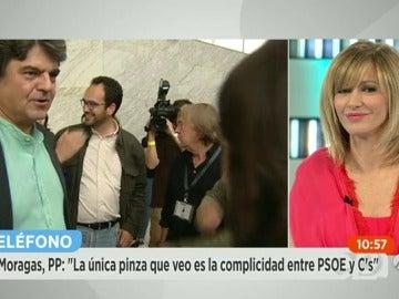 Jorge Moragas en la preparación del debate