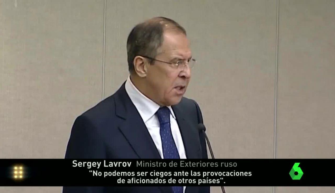 Lavrov, ministro de exteriores ruso, abre la guerra diplomática Francia