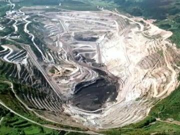 Así era la mina antes del lago