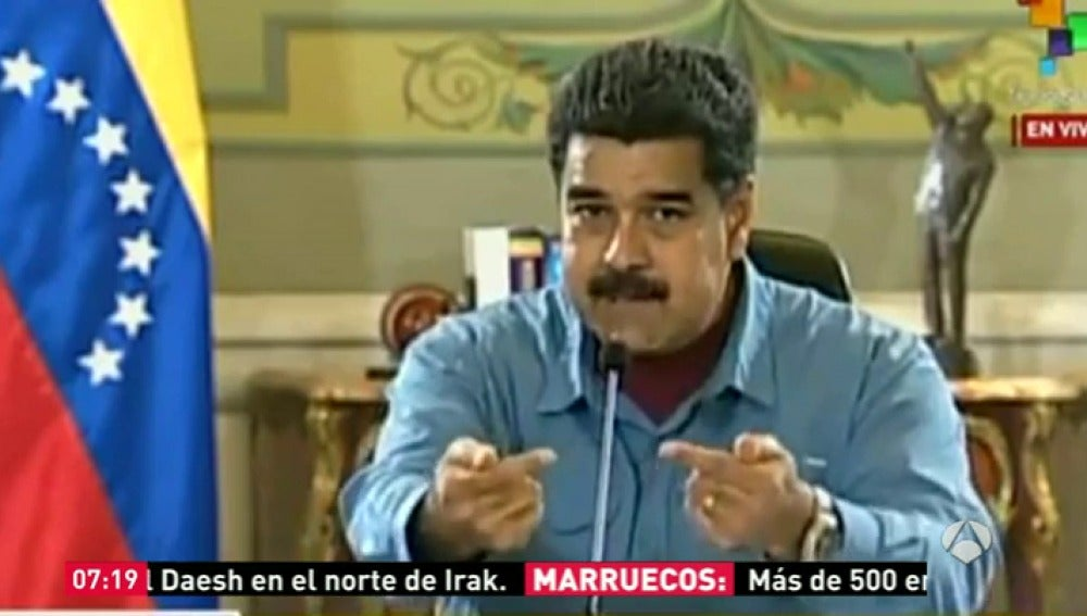 Frame 23.266995 de: Maduro solicitará se investigue en España la financiación ilegal de la oposición