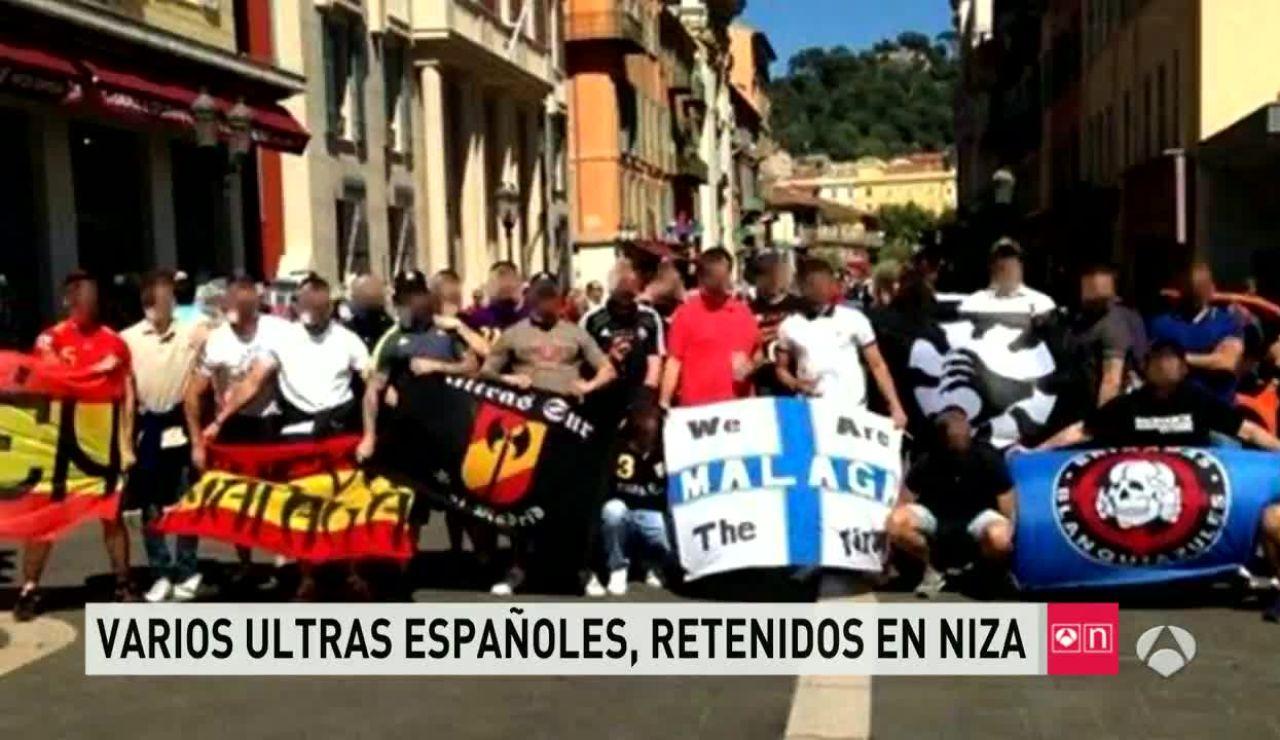 Ultras españoles detenidos en Niza